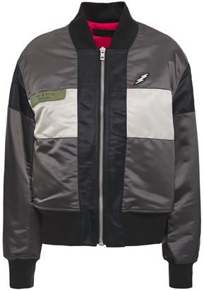 Rag & Bone Riley Appliqued Color-block Shell Bomber Jacket