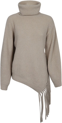 Stella McCartney Fringed Ribs Long Jumper