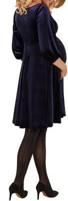 Tiffany Rose Roxie Velvet Maternity Dress