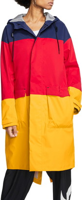 Nike Hooded Colorblock Ripstop & Tricot Wind Jacket
