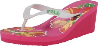 Polo Ralph Lauren Kids Floral Wedge Fashion Sandal (Little Kid/Toddler)
