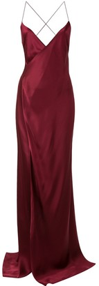 Mason by Michelle Mason Wrap-Front Evening Dress