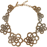 Gold-plated flower necklace
