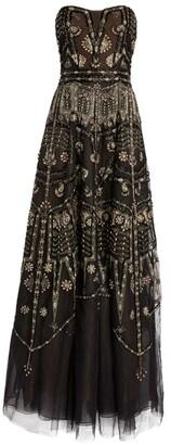 Cucculelli Shaheen Armour Bustier Strapless Gown