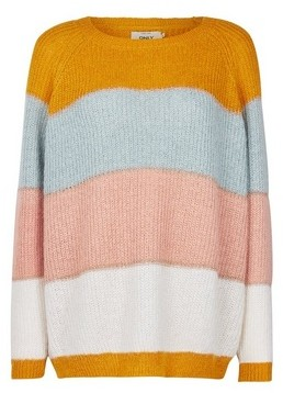 Dorothy Perkins Womens **Only Multi Coloured Stripe Print Knitted Jumper