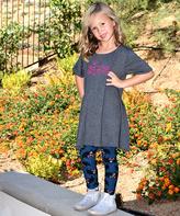 Beary Basics Gray 'Spooky' Tunic & Bat Leggings - Toddler & Girls