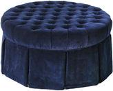 Barclay Butera Elizabeth Tufted Velvet Ottoman, Blue