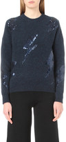 Mo&Co. Thunder sequin-embellished knitted jumper