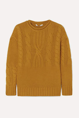 Agnona Cable-knit Cashmere Sweater - Mustard