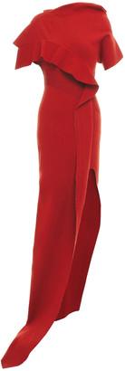 Rick Owens Cutout Draped Knitted Maxi Dress