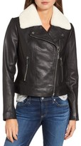 MICHAEL Michael Kors Women's Genuine Shearling Moto Jacket