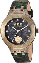 Versus By Versace Men's 'LAGUNA CITY' Quartz Gold-Tone and Leather Casual Watch, Color: (Model: VSP350217)