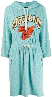 Gucci Logo Detail Hoodie Dress