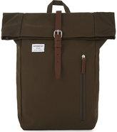 Sandqvist Mens Olive Square High Quality Dante Canvas Backpack
