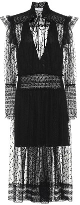 Philosophy di Lorenzo Serafini Embroidered chiffon dress
