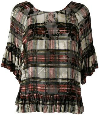 Preen by Thornton Bregazzi Vivienne tartan blouse