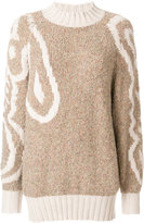 See by Chloe oversized patterned jumper