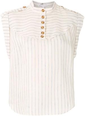 Nk Striped Linen Blouse