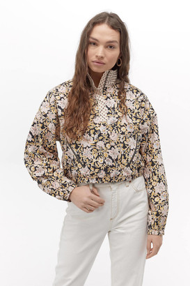 Urban Outfitters Floral Mixed Print Popover Jacket