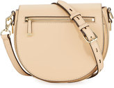 Rebecca Minkoff Astor Leather Saddle Bag, Medium Beige