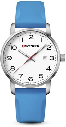 Wenger Unisex Analogue Quartz Watch with Silicone Strap 01.1641.109