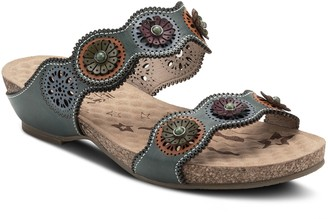 Spring Step L'Artiste By Leather Dual Band Sandals - Markita