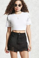 Forever 21 FOREVER 21+ Distressed Denim Mini Skirt