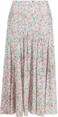 Rixo Claire summer ditsy-print skirt