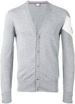 Moncler Gamme Bleu Knit patch sleeve cardigan - men - Cotton - S