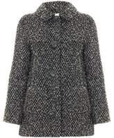 Anastasia Beverly Hills Black & White Round Collar Wool Boucle Jacket Other
