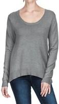 Lilla P Scalloped Back Sweater - Cotton-Modal (For Women)