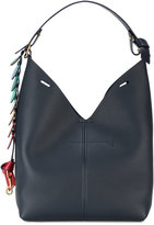 Anya Hindmarch small Navy Bucket shoulder bag - women - Leather - One Size