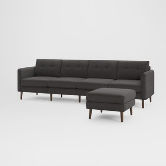 "west elm Burrow Nomad King Sofa with Ottoman (112"")"