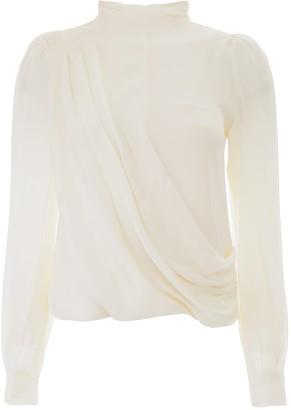 MICHAEL Michael Kors Draped Silk Blouse