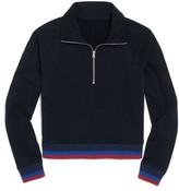 J.Crew Women's Sport Stripe Half Zip Jacket