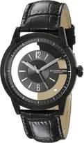 Stuhrling Original Men's 946.03 Winchester Quartz Transparent Dial Leather Watch