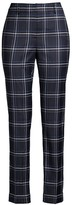 Lafayette 148 New York Clinton Plaid Cuff Pants