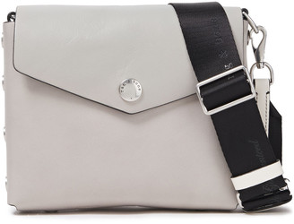 Rag & Bone Grosgrain-trimmed Leather Shoulder Bag