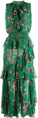 MISA Floral-Print Tiered Dress