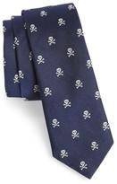 Vineyard Vines Men's Skull & Crossbones Silk Skinny Tie