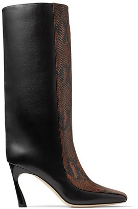 Jimmy Choo Mabyn 85 Leather Boots