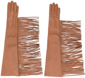 Manokhi Textured Fringed Edge Gloves