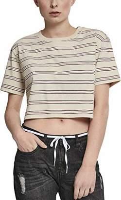 Urban Classic Women's Ladies Short Multicolor Stripe Tee T-Shirt