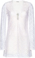 Miu Miu Macrame embroidered dress