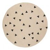 Ferm Living Kids Black Triangles Round Rug D100 cm