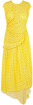 Preen by Thornton Bregazzi Aubrey Gathered Ruffled Floral-jacquard Maxi Dress