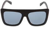 Quay Black Boxy Sunglasses