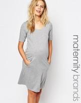 Mama Licious Mama.licious Mamalicious Short Sleeve Jersey Dress