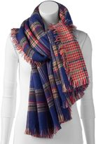 Woolrich Plaid Reversible Blanket Scarf