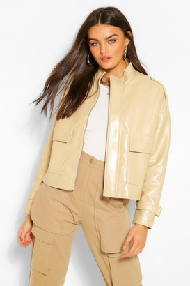 boohoo Oversized Boxy Faux Leather Jacket